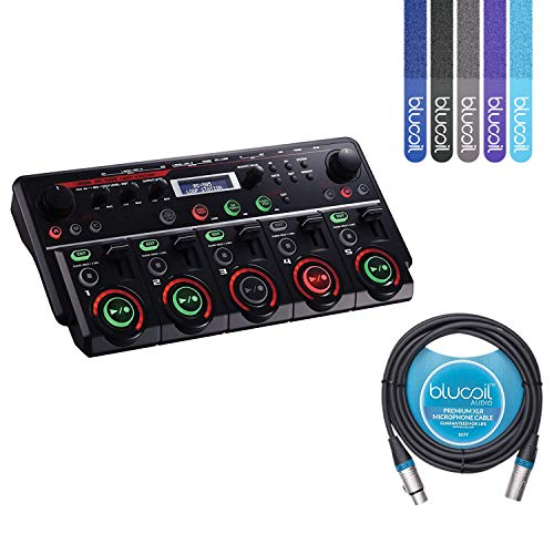 (BOSS RC-505 Loop Station Bundle with Blucoil 10-FT XLR Microphone Cable and 5-Pack of Blucoil Reusable Cable Ties)