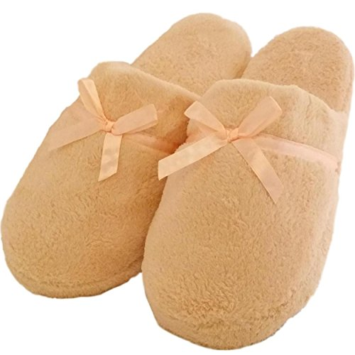Women's Fuzzy Soft Sole Velvet Lounge House Shoes Indoor Slippers Sandals Flip Flops (10/11, ()