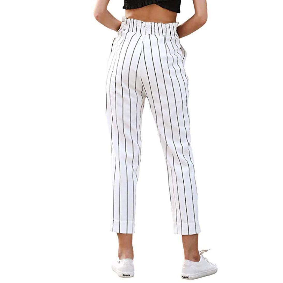 66ce46aafd72 Pantalons Taille Pantalons en Jersey Pantalons Fashion Élastique Larges  DÉté pour Femmes Pantalons en Dentelle Pantalons ...