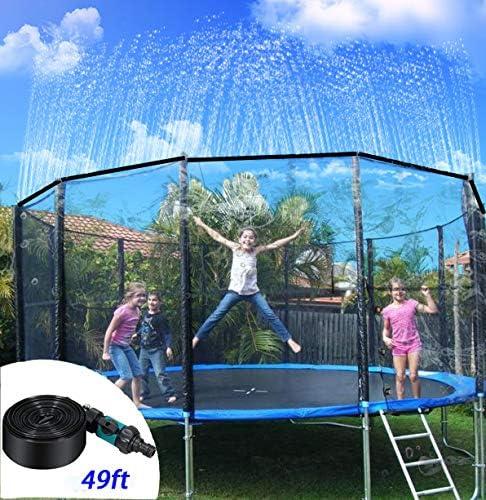 Outdoor Trampoline Water Play Sprinklers for Kids, Jonassk Woolffk Trampoline Sprinkler