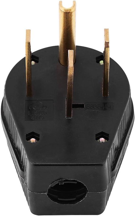 Arrow Hart 5745N Straight Blade NEMA 14-50P Plug 50A 125//250V 3-Pole 4-Wire Gray