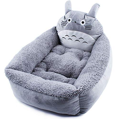 DENTRUN Cartoon Pet Dog Bed Sofa Dual Layer Memory Foam Totoro Shaped Soft Cotton Pet Dog Puppy Warm Waterloo Bed Nest Bed House Pad for Puppy Mat
