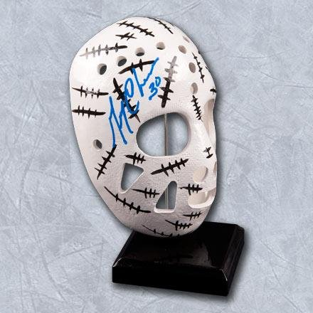 """Gerry Cheevers Boston Bruins Autographed Replica 6"""" Stitched Goalie Mask - Autographed NHL Helmets and Masks by..."""