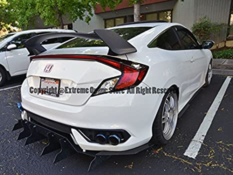 Amazon.com: Extreme Online Store EOS Body Kit Rear Wing Spoiler - Honda Civic 2 Door Coupe 16-Up 2016 2017 2018 Type R Style: Automotive