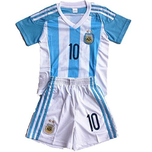 e92b21c7e Barcelona Kids Jersey 2015 2016 Messi  10 Football Soccer Argentina Home Jersey  Shorts   Socks   Free Key Chain   Free Pen Bag For Kids 3-14 Years - Buy ...