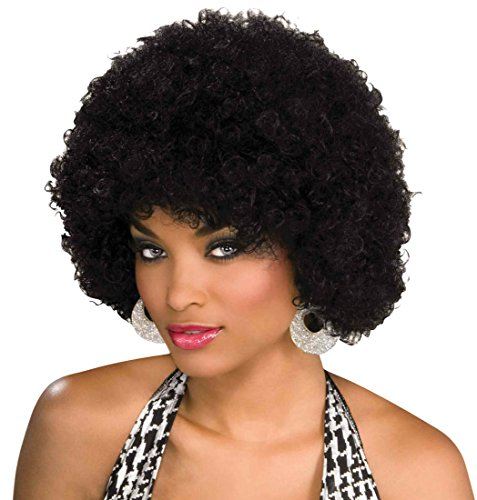 Afro Hippie Costume (Afro Wig (Unisex) - Choose Style (Black ) - #1 Afro Disco Hippie 60s 70s Wig)