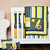 DK Leigh Crib Bedding Set for Unisex, Beach Surf Baby, 10 Piece