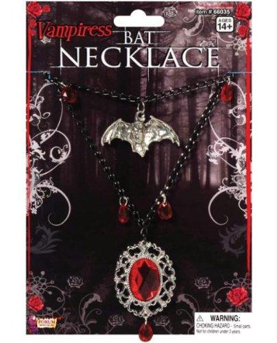 - Vampiress Bat Necklace