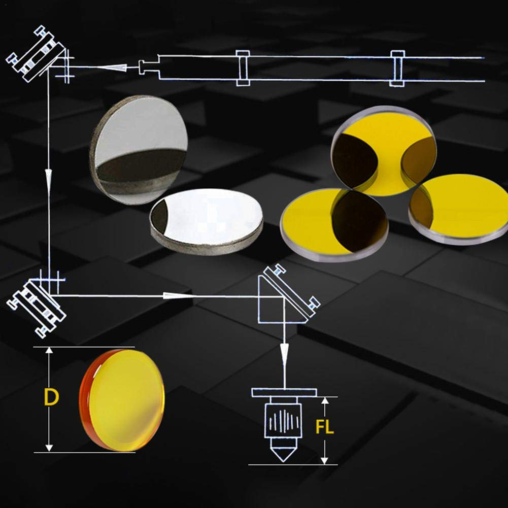 Enjoyyouselves Espejo Reflectante K9 Tecnolog/ía de Infrarrojos de Vidrio D20mm Grabado M/áquina de Corte Accesorios de Tubo Adecuado para l/áser CO2 Grabador