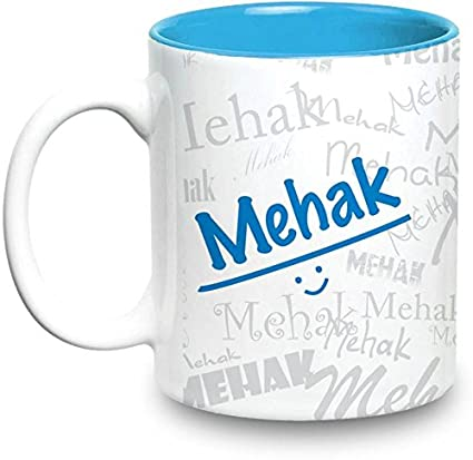 Mehak Name Gift Ceramic Inside Blue Mug Gifts For Birthday