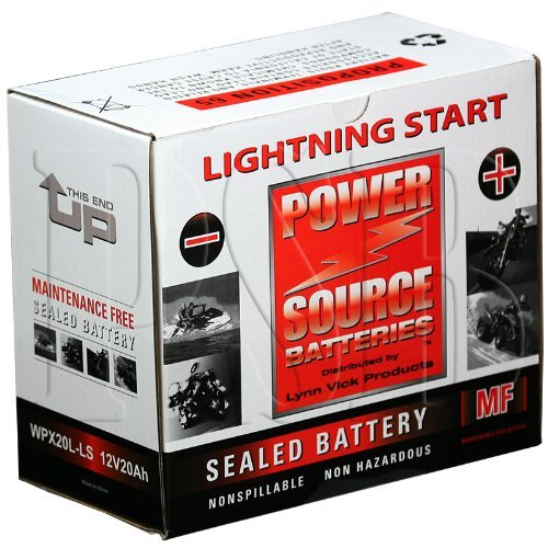 YTX20HL-BS, YTX20HL, YTX20L-BS, YTX20L, GYZ20HL, 4011496 Replacement Battery 500cca Ultra High Performance Lightning Start WPX20L-LS Sealed AGM for Motorcycle, ATV, Jet Ski, Snowmobile, Side x Side, Honda, Yamaha, Kawasaki, Ski-Doo, Pure Polaris, Can-Am, BRP -  Power Source, PS01-352P
