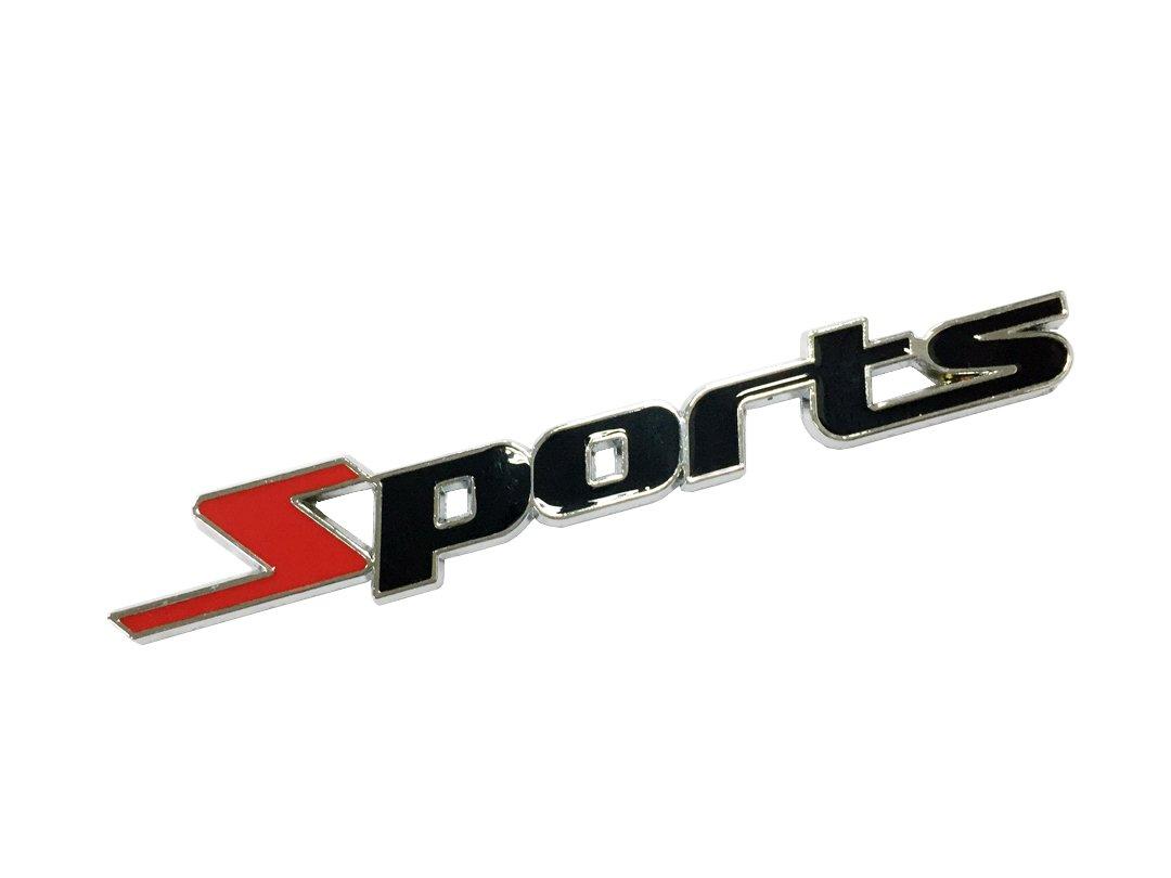 Dian Bin-The Sports Red+black Metal Sticker Vehicle-badge Logo Emblem