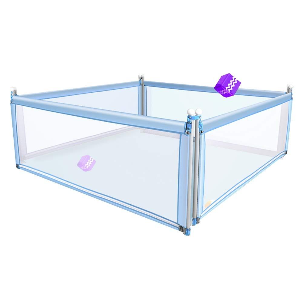 HENGYUS ベッドレールベッドレールガード幼児向け4セット金属安定したシームレスギャップ垂直方向の上下ミュート環境に優しい、3色、2サイズ (Color : Blue, Size : 200x150x77cm) 200x150x77cm Blue B07SF5X7LN