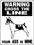 RAT TERRIER ALUMINUM GUARD DOG SIGN 827 9