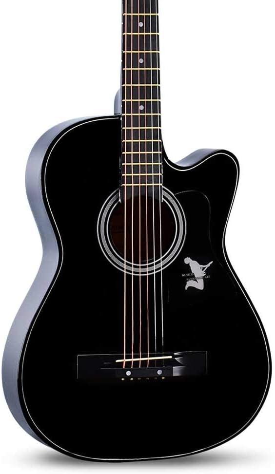 Boll-ATur Blue Ballad Guitarra acústica Principiante Niños Guitarra acústica clásica Multicolor Guitarra opcional de 38 pulgadas Cuerda de sintonizador electrónico (Color : Style 7)