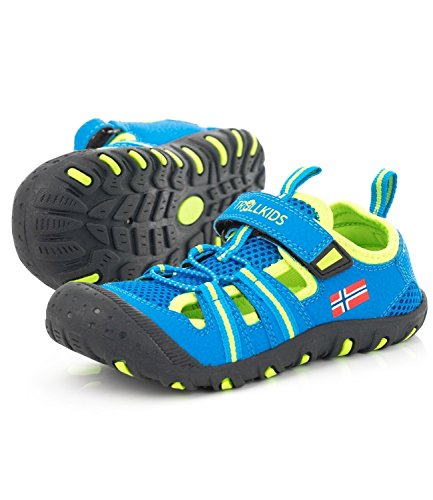 Medium Sandefjord Sandale Kinder Sport Blue Trollkids Lime gSqxf4wW0