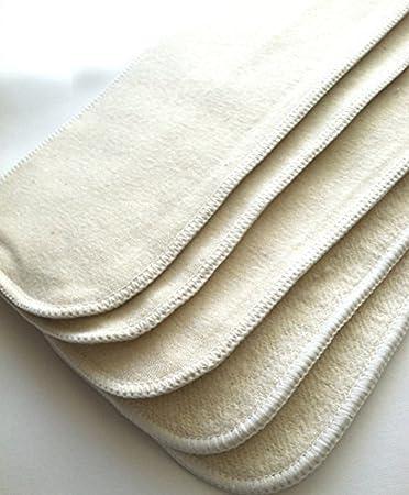 X 4 Organic hemp//cotton inserts x 3 layers