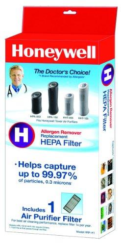 KAZHRFH1 - Kaz Inc Honeywell HRF-D1 Universal True HEPA Replacement Filter, Black/White, Microscopic Allergens