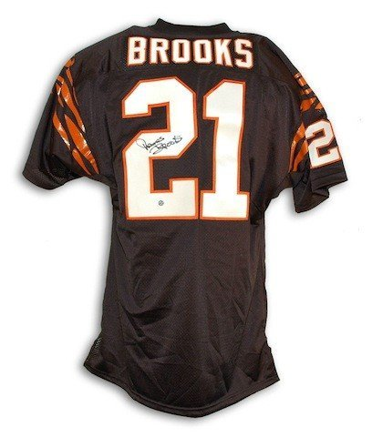Autographed James Brooks Cinncinati Bengals Black Throwback Jersey Certified Authentic Signature