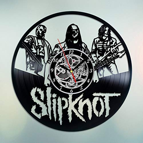 Slipknot clock Vinyl Slipknot band Slipknot decor Slipknot music Slipknot gifts Hygge decor Fashion clock Style 2018 Old records Buy vinyl