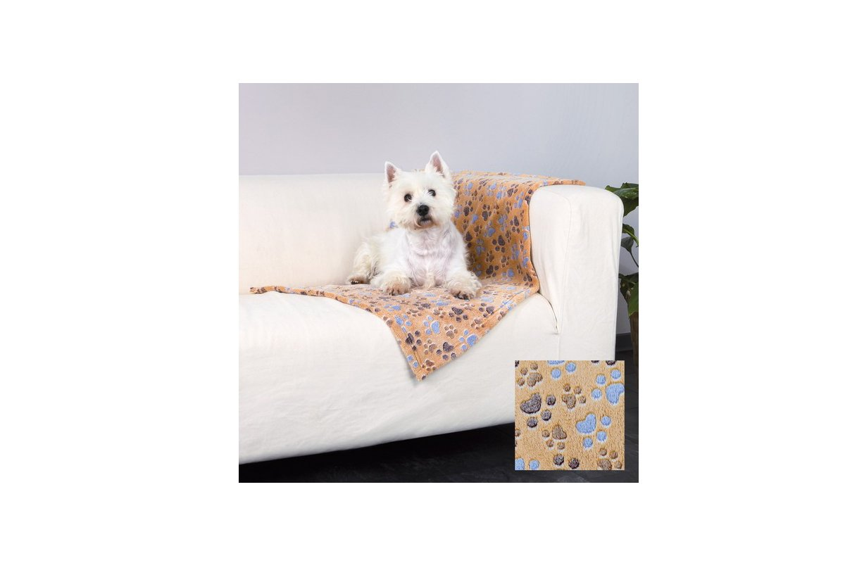 Dog Blanket With Paw Design Laslo Blanket By Trixie 150 x 100cm 4047974372036