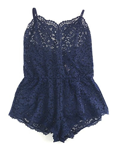 dy by Victoria Lace Romper Small Ensign Solid ()