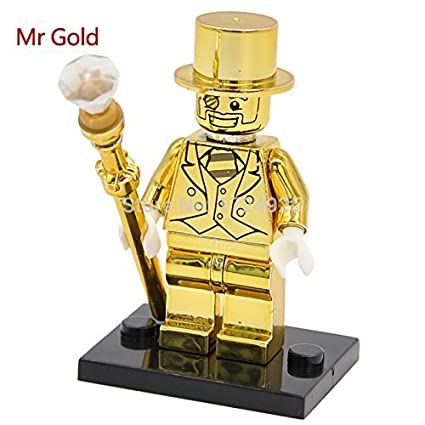 Amazon.com: Mr Gold Limited Edition Chrom Golden Minifigures Single ...
