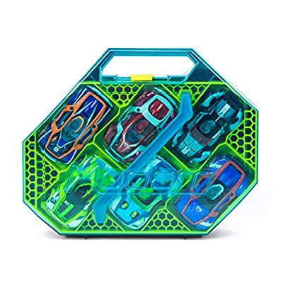 Modarri Collector Case – Ultimate Carrying Case Fits 12 Toy Cars – Includes Double Decker Storage: 2 Layers with 12 Spaces for Cars, Parts & Tools: Toys & Games