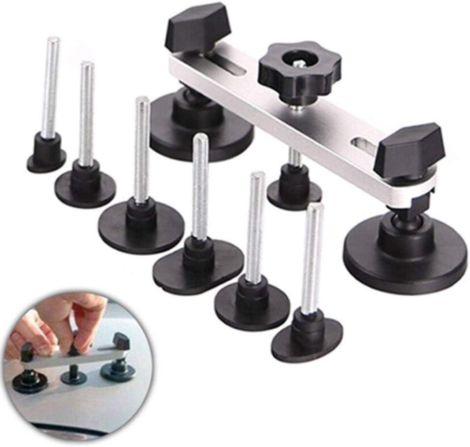 JMgist Paintless Dent Repair Kit Silvery Tools Bridge Dent Puller Glue with 7 Size Tabs