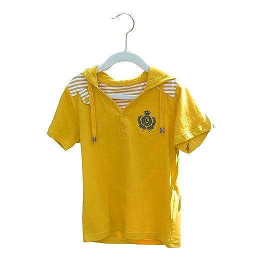 c54e6e5707 Amazon.com: Boys Fashion Short Sleeve T-Shirts with Hood for Kids ...