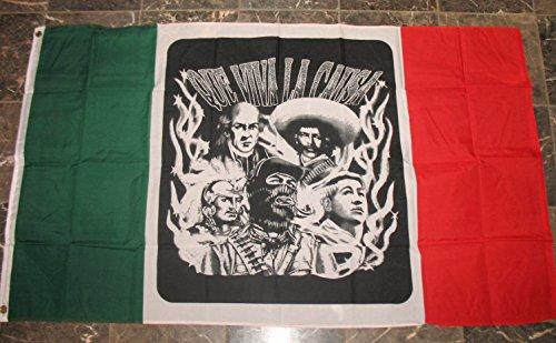 """Mexico """"Que Viva La Causa"""" Mexican Flag 3x5 Banner"""