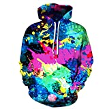 OCEAN-STORE Women Blouse,Fashion 2018 Women's Casual Autumn Winter 3D Printing Long Sleeve Hooded Sweatshirt Top Blouse T-Shirt (L/XL, Multicolor)