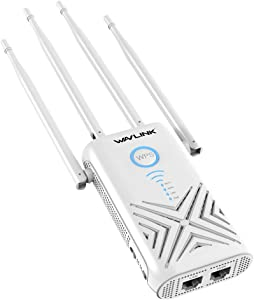 WAVLINK AC1200 Gigabit WiFi Range Extenders Signal Booster 1200Mbps 2.4+5Ghz Dual Band Wi-Fi Amplifier Repeater/Wireless Router/Access Point AP 3 in 1, No WiFi Dead Zones for Working from Home