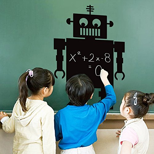 Mural ZOZOSO Carved Removable Blackboard Stickers Children's Room Bedroom Cartoon Decorative Stickers Anime Stickers Robot ()