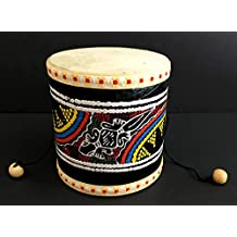 Djembe Drum Wood Hand Drum Hand Painted Damaru Mini Drum - JIVE BRAND - Professional Sound