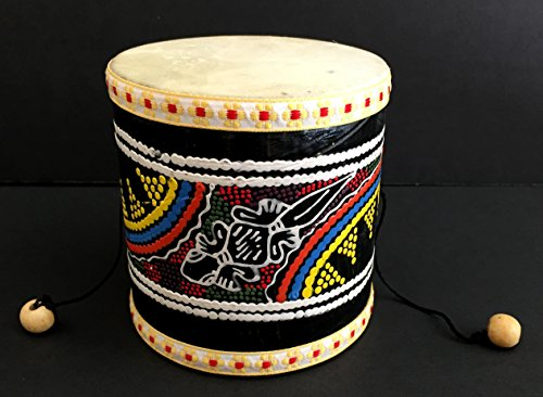 - Djembe Drum Wood Hand Drum Hand Painted Damaru Mini Drum - JIVE BRAND - Professional Sound