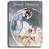 Sweet Dreams 25''x34'' Planked Wood Sign Wall Decor Art