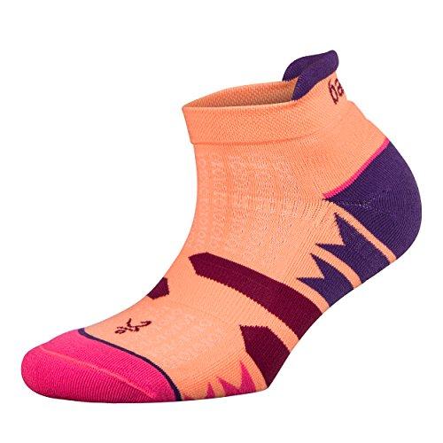 Balega Women's Enduro V-Tech No Show Socks (1 Pair), Purple/Peach, Small (Silver No Show Socks)