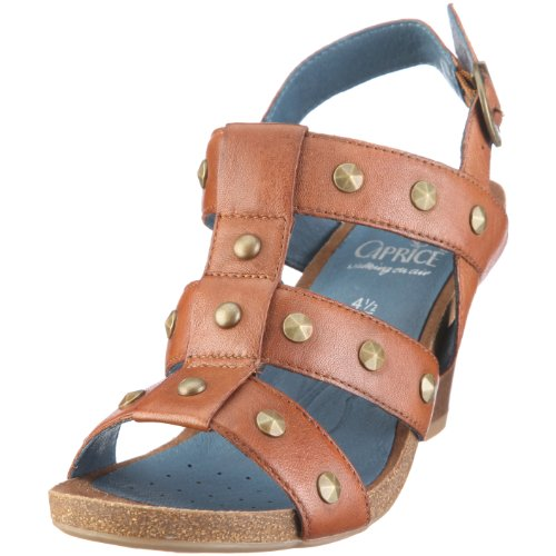 air Nut on Damen 9 Braun Caprice walking 28326 9 Sandalen Caprice wRqFFgf