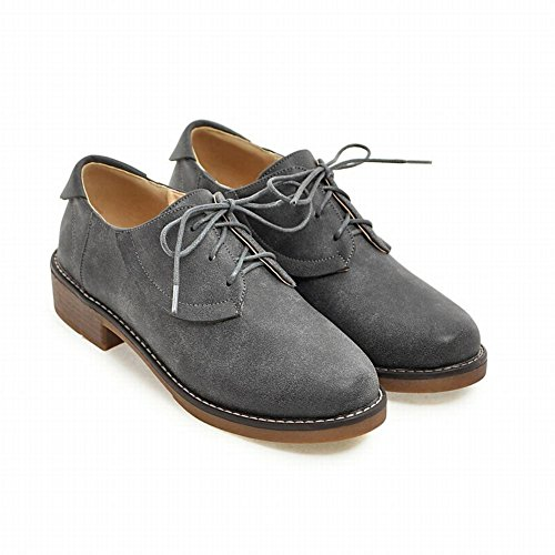 Latasa Scarpe Stringate Donna Oxford Color Grigio