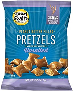 product image for Good Health Peanut Butter Pretzels, Unsalted, 5 Ounce Bags (Pack of 12)