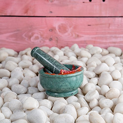 Rusticity Marble Mortar and Pestle - Green | Handmade | (4 (Pestle Green Marble)