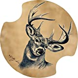 Thirstystone Deer Car Cup Holder Coaster, 2-Pack
