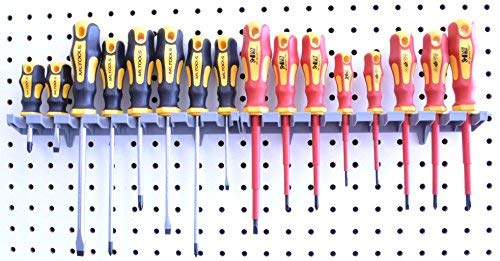 (Screwdriver Organizer | MLTOOLS 8 Tool V-Slot Screwdriver Organizer | Made in USA | VS8226 x 2)
