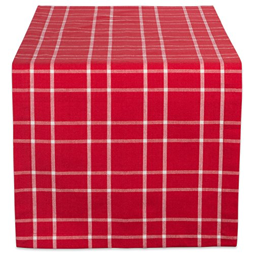 DII 100% Cotton, Machine Washable, Dinner and Holiday Table Runner 14x108