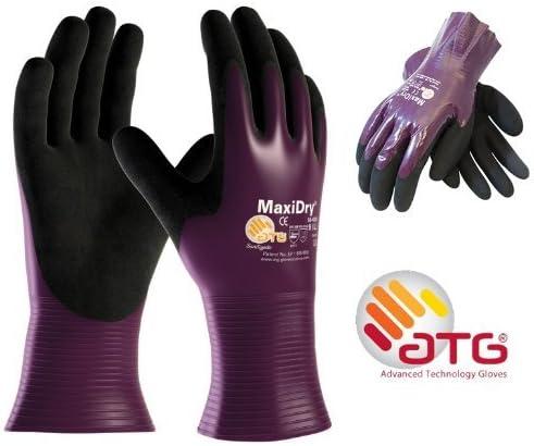 12 x MaxiDry Palm Coated 56-426 Nitrile Foam Palm Coated Waterproof Work Gloves