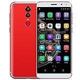 Padcod M98 LTE Unlocked 4G Smartphone 5.72 Inch Display, Android 6.0 Quad-Core 1.3GHz Processor,1GB RAM+16GB ROM,13MP/5MP Camera,Bluetooth/Wi-Fi 3000mAh Battery Smart phone (Red)