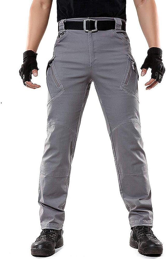 LABEYZON Mens Outdoor Work Military Tactical Pants Lightweight Rip-Stop Causal Cargo Pants Men
