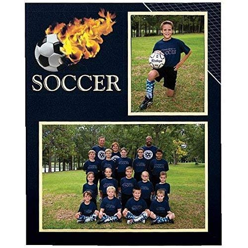 Soccer Player/Team 7x5/3.50x5 MEMORY MATES cardstock double photo frame sold in 10's - ()