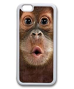 Custom Case with Big Face Baby Orangutan DIY Back Snap On Case for iPhone 6 4.7 TPU Black